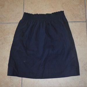 J. Crew Navy Textured Business Skirt